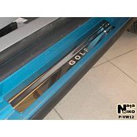 NataNiko Накладки на пороги для VOLKSWAGEN Golf V '03-08 5d (Комплект 8 шт.) Standart, фото 1