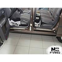 NataNiko Накладки на пороги для VOLKSWAGEN Caddy III '04-15 (Комплект 4 шт.) Standart, фото 1