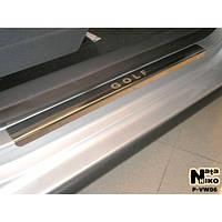 NataNiko Накладки на пороги для VOLKSWAGEN Golf V Plus '03-08 (Комплект 4 шт.) Standart, фото 1