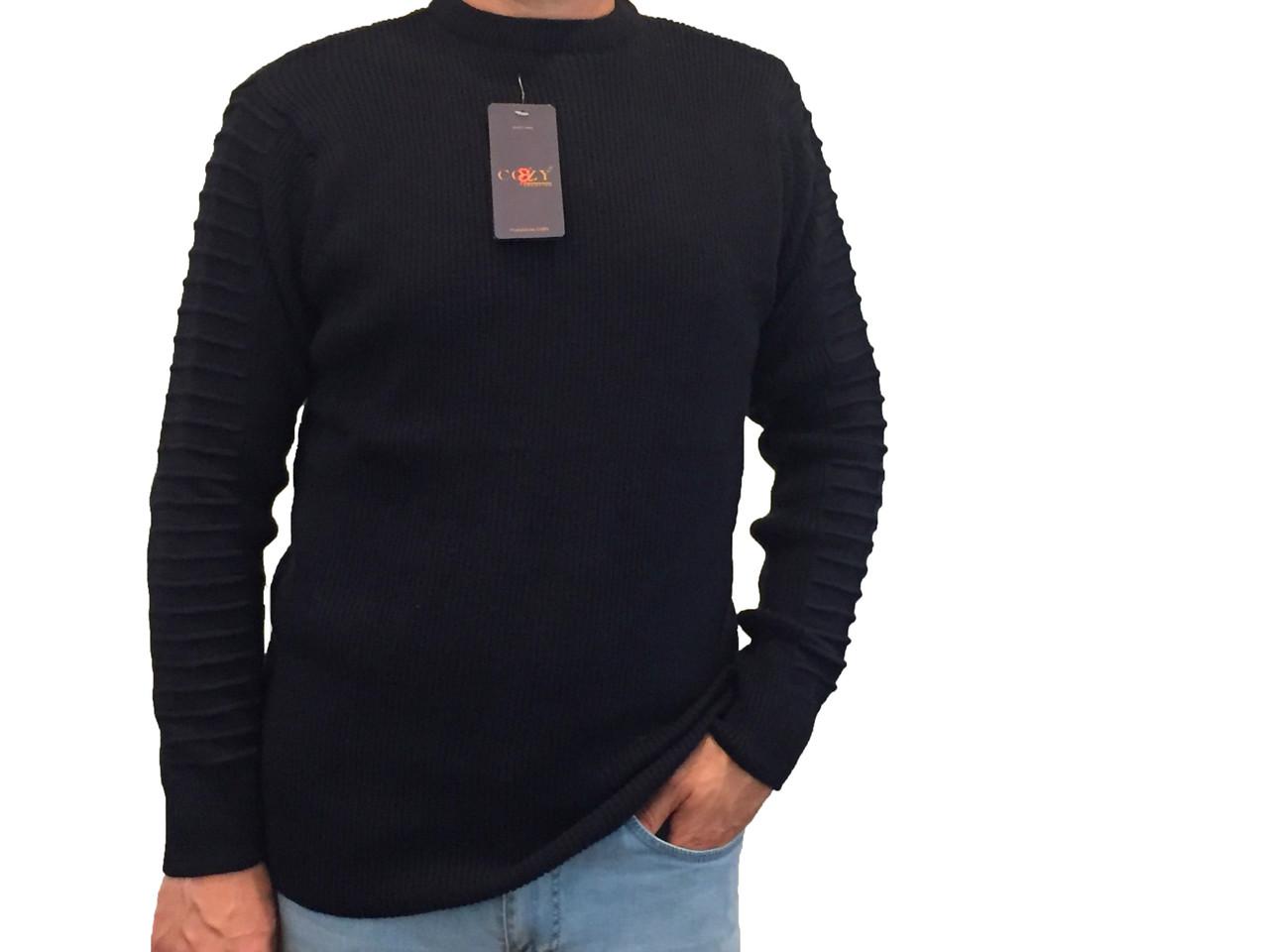 Мужской теплый свитер № 1460 синий