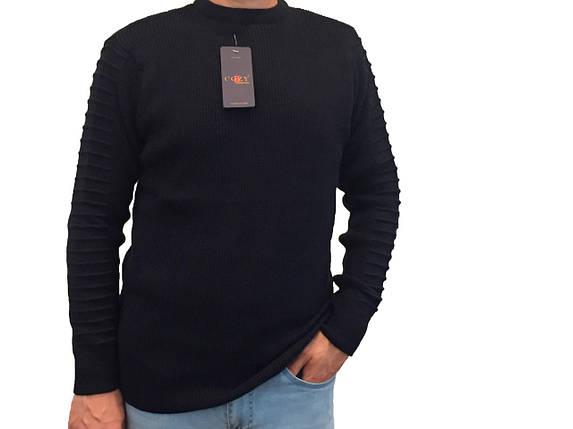 Мужской теплый свитер № 1460 синий, фото 2