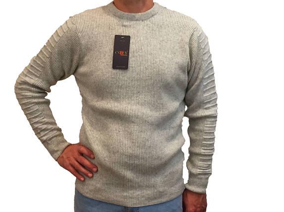 Мужской теплый свитер № 1460 серый, фото 2