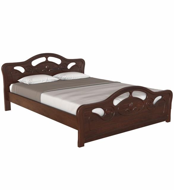 Ліжко двоспальне в спальню з натурального дерева 160х190 Л-221 Скіф