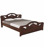 Ліжко двоспальне в спальню з натурального дерева 160х190 Л-221 Скіф, фото 1