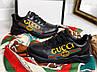 Кроссы чёрные в стиле Gucci комби 38 и 40 размеры, фото 4