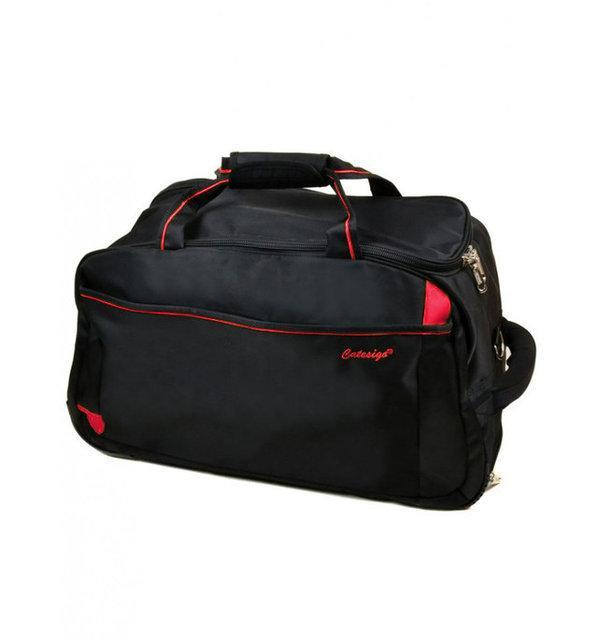Дорожня сумка на коліщатках середнього розміру з висувною ручкою, чорна 66 літрів