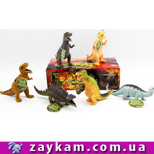 Тварини гумові 7210 432шт2 Динозаври, 6 видів, в кор. 28159 см
