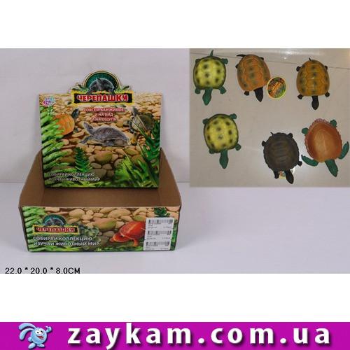"Животные резиновые ""Черепашки"", 2 вида, 12шт. в коробке 22х20х8 /432"