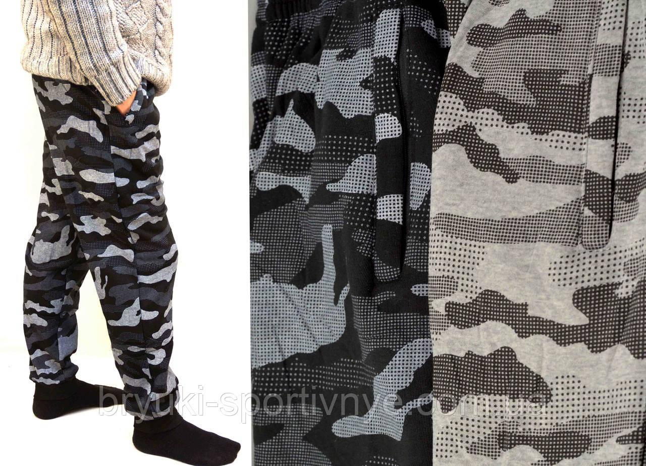 Штани камуфляжні трикотажні під манжет - зимовий варіант