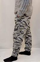 Штани камуфляжні трикотажні під манжет - зимовий варіант, фото 2