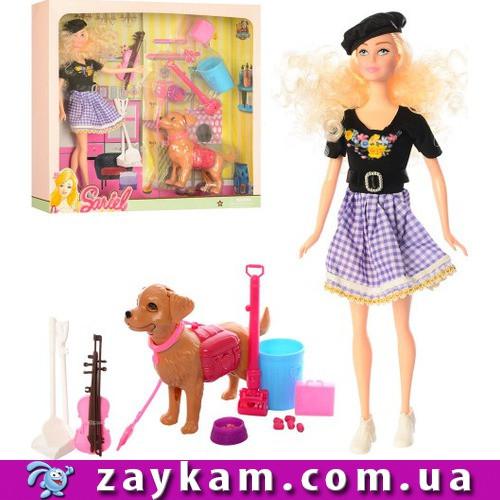 Лялька 7726-A1 , інструменти, скрипка, в коробці, 36, 5-34-7см
