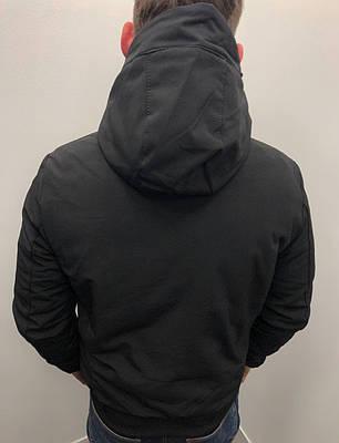 Куртка зимняя мужская с капюшоном черная, фото 2