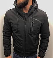 Куртка зимняя мужская с капюшоном черная