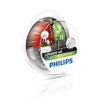 Philips LongLife EcoVision (служат в 4 раза дольше) - Лампочки автомобильные H1