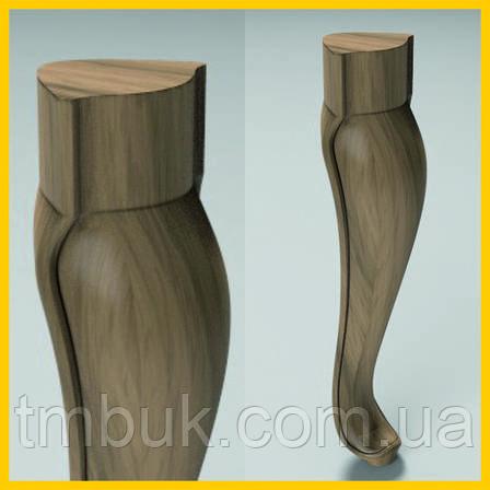 Резные ножки для столов, стульев, пуфиков и тумб из дерева. 300 мм., фото 2