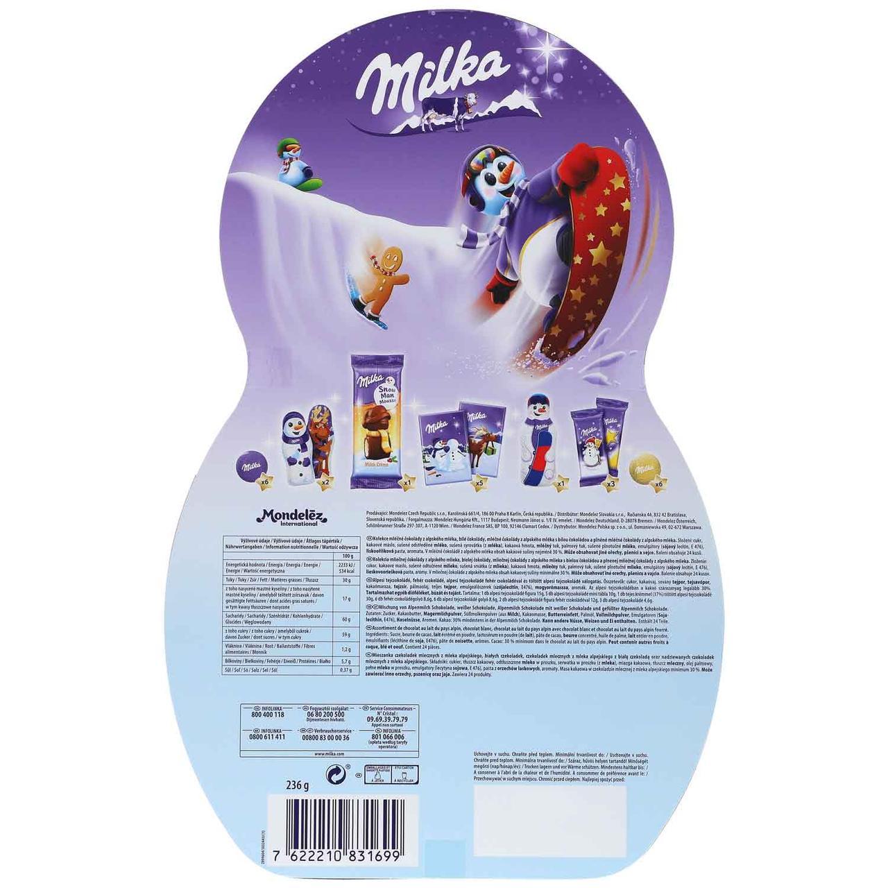 Milka Weihnachtskalender.Advent Kalendar Milka Snow Mix Adventskalender Veselyj Snegovik 235 Gramm