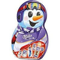 Адвент календарь Milka Snow Mix Adventskalender веселый снеговик, 235 грамм , фото 1