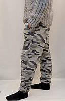 Штаны камуфляжные трикотажные под манжет - зимний вариант Серый, XL