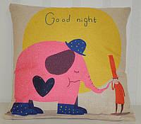 "Детская наволочка декоративная ""Good night elephant"" (45х45)"
