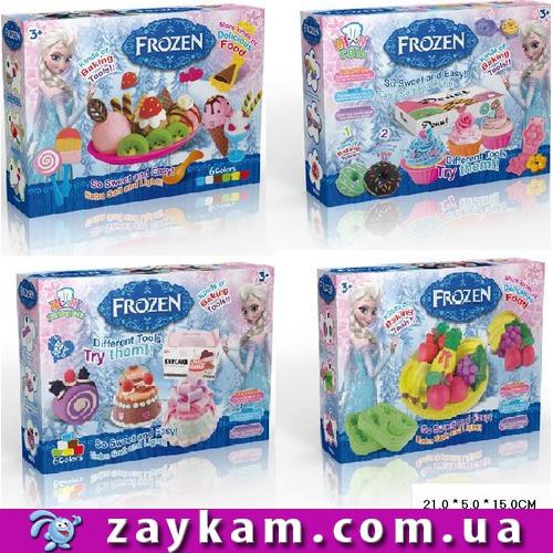 Набір для творчості DN828FZ-1234 Frozen,Десерти,4 види,пластилін 6 цв,в кор.21515см