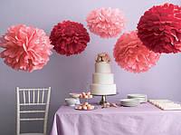 Помпон ( оформление праздника помпонами ). Бумажные шары. Оформление бумажными цветами.