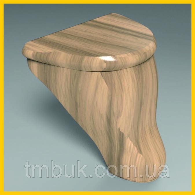 Маленькая выступающая ножка для кровати, деревянной мягкой и корпусной мебели. Гладка резная. 100 мм