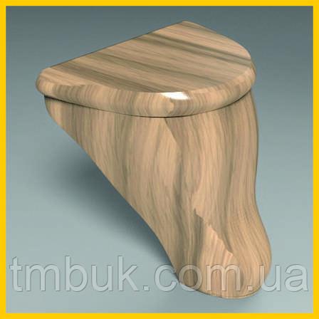 Маленькая выступающая ножка для кровати, деревянной мягкой и корпусной мебели. Гладка резная. 100 мм, фото 2