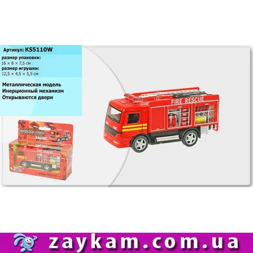 Машина метал KINSMART KS5110W Пожежна 96шт4 в коробці 1687,5 см