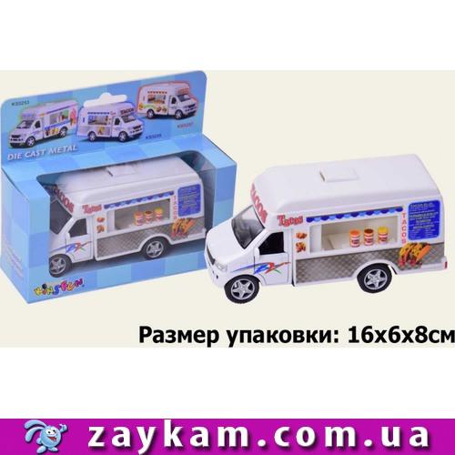 """Машина метал """"Kinsfun"""", """"Tacos Truck"""", в коробці 16*8*7, 5с"""