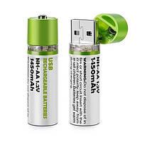USB аккумуляторные батарейки АА с ёмкостью 1450mAh