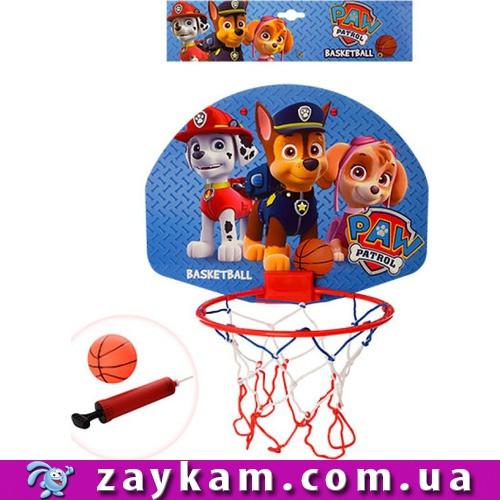Баскетбольне кільце ЩП, 17см, щит 21-28см , пластик, сітка, м'яч 7, 5см, насос, кульок 30-30-2, 5с