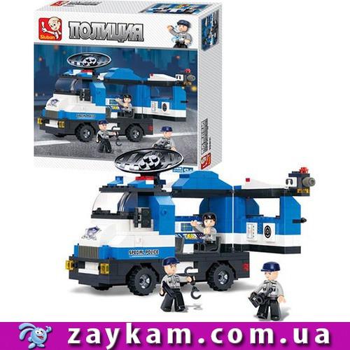 Конструктор SLUBAN M38-B0187 поліція, машинка, фігурки 3шт, 265дет, в коробці, 28, 5-28, 5-5см