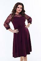 Вечернее платье с сеткой 50-58 р в разных цветах, фото 1
