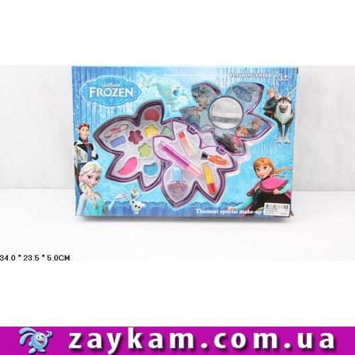 "Косметика ""Frozen"", тени, румяна, помада, блеск, лак, кисточка, в коробке34*23, 5*5см"