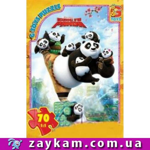 """Пазли серії """"Панда Кунг-Фу"""", 70 пазлів, розмір полотна 21*30см, коробке19*13*3с"""