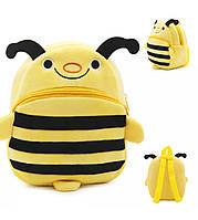 Красивый рюкзак для дошкольников мальчиков и девочек с забавным принтом «Пчелка» (желтый)