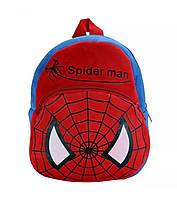 Красивый рюкзак для дошкольников мальчиков с принтом «Спайдер Мен» (красно-синий)