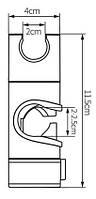 Держатель для ручного душа на штангу съемный 20 мм, фото 2