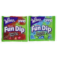 Nestle Wonka Конфеты с присыпкой 2 в 1 поштучно 2 вкуса Link-M-Aid Fun Dip Fun Size Assorted Candy Pack