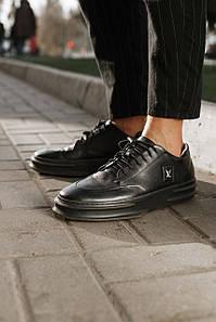 Туфли мужские Louis Vuitton черные,натуральная кожа