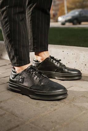 Туфли мужские Louis Vuitton черные,натуральная кожа, фото 2