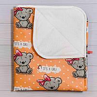 Непромокаемая пеленка BabySoon Мишутка с бантом 70 х 80 см (0640), фото 1