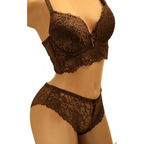 Комплект женского нижнего белья Чашка С Biweier 3177 шоколадный