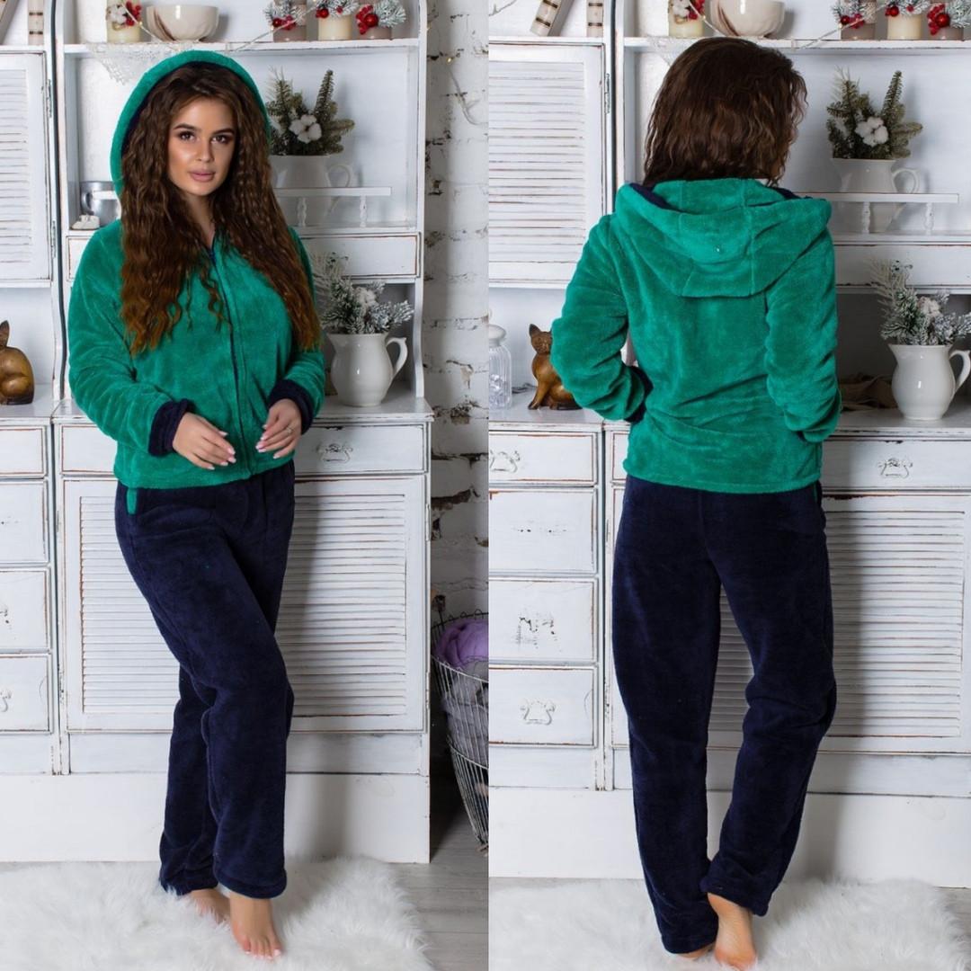 Купить Пижаму женскую махровую изумруд оптом и в розницу от интернет ... 4c1f41478fa