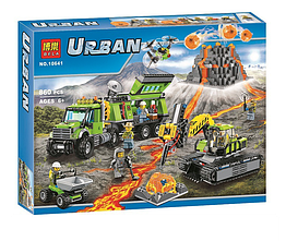 """Конструктор Bela 10641 (аналог Lego City 60124) """"База исследователей вулканов"""", 860 деталей"""