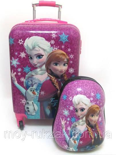 """Детский чемодан на колесах, большой + рюкзак «Josef Otten» Холодное Сердце 20"""""""