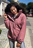 Короткая куртка кожа лакированная  179 , фото 1