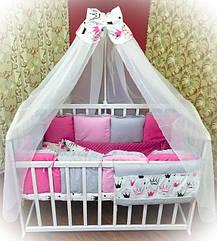 Детское постельное бельё Bonna Минки Малиновое