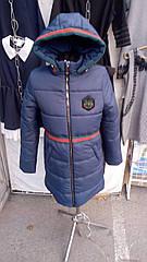 Зимняя куртка для девочки «ZKD-9» синяя