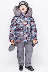Зимний комбинезон для мальчика KM-1 Принт 15
